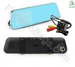 آینه خودرو مانیتور دار 4.5 اینچ با دو دوربین جلو و دنده عقب