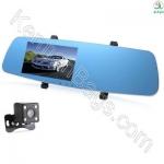 آینه خودرو مانیتوردار به همراه 2 دوربین و دید در شب
